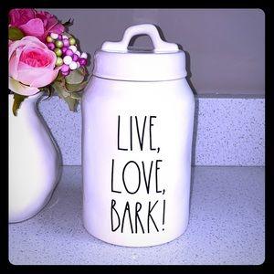 🐶 RAE DUNN LIVE LOVE BARK! TREATS CANISTER